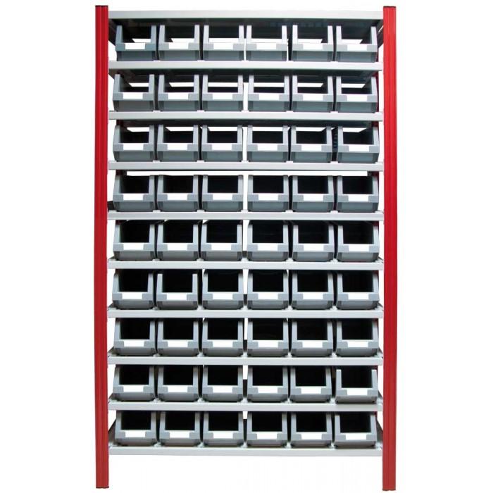 Estanter a para cajas de pl stico ep50 p3l c c - Caja almacenaje plastico ...
