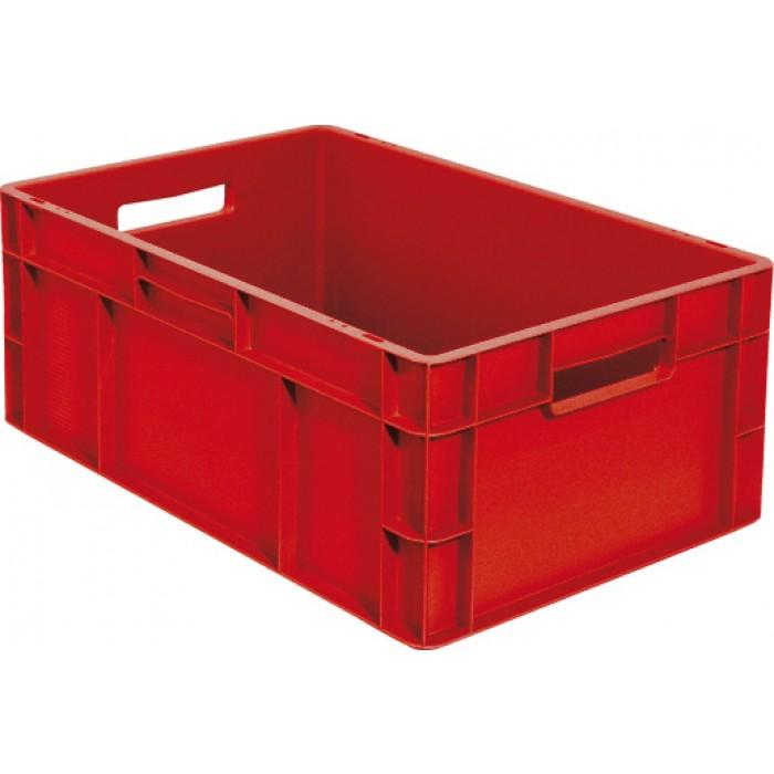 Caja de pl stico apilable norma europea eu 6423l - Caja almacenaje plastico ...