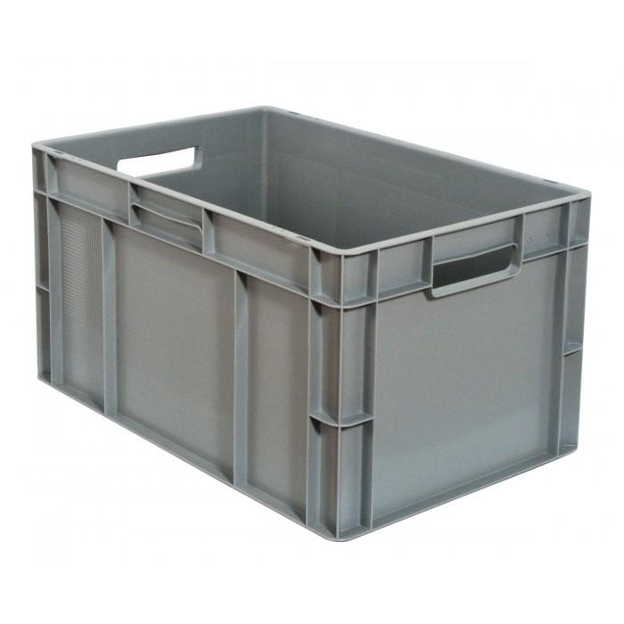 Caja de pl stico apilable norma europea eu 6432l - Caja almacenaje plastico ...