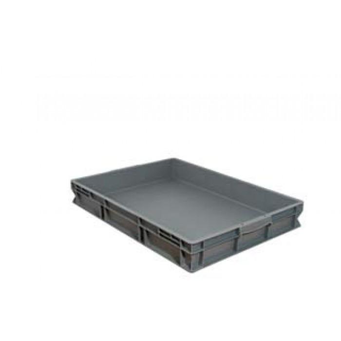 Caja de pl stico apilable norma europea eu 8612l - Caja almacenaje plastico ...