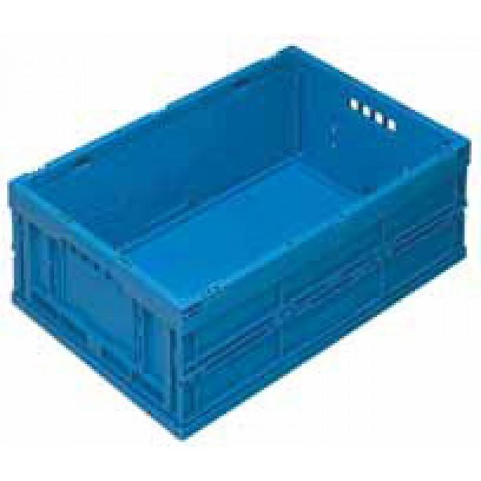 Caja de pl stico plegable y apilable eup 6422 azul - Cajas de plastico ...