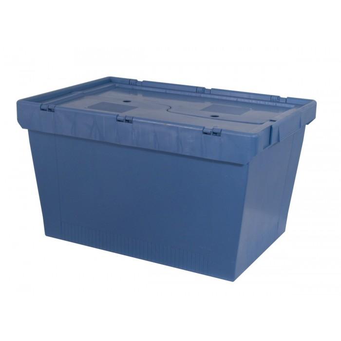 Cajas de pl stico encajables con tapa abatible mu 6434 - Cajas de plastico ...