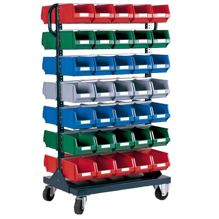 Carros para cajas de pl stico rb 3 c c - Caja almacenaje plastico ...
