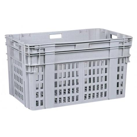 Caja de plástico apilable y encajable PO-906