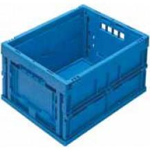 caja de plástico plegable y apilable EUP-4322 AZUL