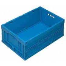 caja de plástico plegable y apilable EUP-6422 AZUL