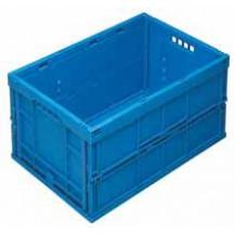 caja de plástico plegable y apilable EUP-6432  AZUL