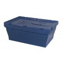 Cajas de plástico encajables con tapa abatible MU-6424