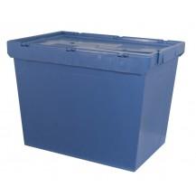 Cajas de plástico encajables con tapa abatible MU-6444
