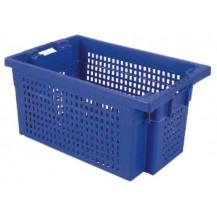 Caja de plástico apilable y encajable PO-6430R